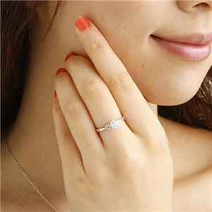 ◇K18ホワイトゴールド0.7ctダイヤリング指輪キャッスルリング15号