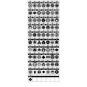 ◇家紋入りネックレス(2本組)58/三つ盛り亀甲に花菱