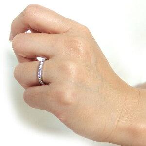◇プラチナPT900天然ダイヤリング指輪ダイヤ0.50ct13号GoodHSIハーフエタニティリング