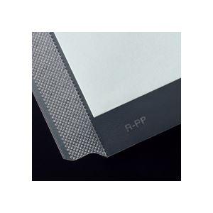 ◇(まとめ)TANOSEE再生2穴透明ポケット(台紙あり)A4タテグレー100枚入×10パック