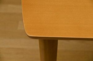 ◇ダイニングテーブル/リビングテーブル【幅135cm×奥行80cm】長方形木製Richmondブラウン【】※他の商品と同梱