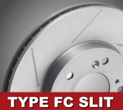 RG(レーシングギア) ブレーキディスクローター 【フロント2枚セット】 TYPE FC スリットタイ...