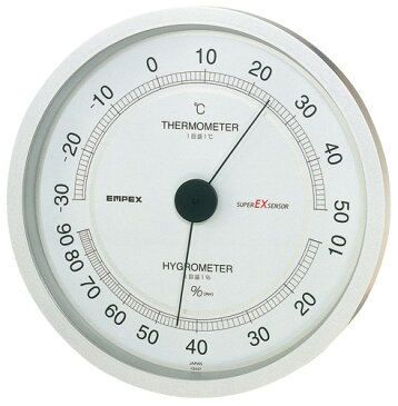 温湿度計 高精度 エンペックス アナログ 日本製 壁掛け スーパーEX高品質温・湿度計 EX-2747