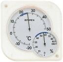 【ポイント2倍】 温湿度計 エンペックス アナログ 壁掛け 置き型 シュクレmidi温湿度計 ホワイト TM-5601