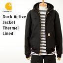 [カーハート ジャケット] アクティブジャケット(裏サーマル)J131[ブラックダック(黒)] Carhartt Active Jacket J131 パーカー ジャケット