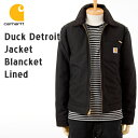 [Carhartt]デトロイトジャケット J001[ブラックダック(黒)]カーハート ジャケット