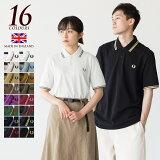 【ポイント10倍】[限定46サイズあり] フレッドペリー ポロシャツ M12/M12N 新色&定番カラー 英国製 メンズ ラインポロ 大きいサイズ メンズ3L