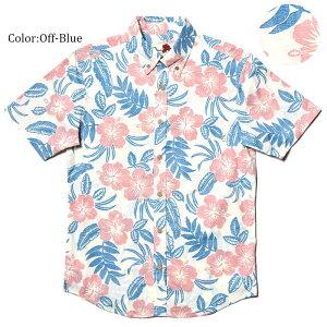 アロハシャツ メンズ  結婚式 ハイビスカス Classical Hibiscus 男性用 半袖 5Lまで 大きいサイズあり 毎年売り切れの人気柄メール便利用で 送料無料 お揃い ペア ペアルック 男女 リンク リンクコーデ 親子