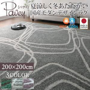 送料無料夏涼しく冬あたたかい国産モダンデザインラグ【pavey】パヴィ200×20004070217205P07Feb16