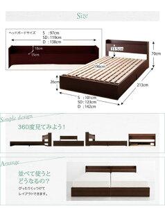 棚コンセント付収納すのこベッドLaBreaラブレアボンネルコイルマットレスレギュラー付シングルベッドシングル収納ベッドすのこベッドコンセント付棚付ラブレアボンネルコイルマットレスレギュラー付シングルサイズベットマットレス付収納付ベッド