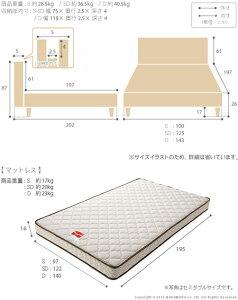 フランスベッド日本製ダブル収納付きフラットヘッドボードベッドオーブリーレッグタイプダブルマルチラススーパースプリングマットレスセットベッドベット省スペース木製ベッドシンプル一人暮らしワンルームヘッドボード木製国産
