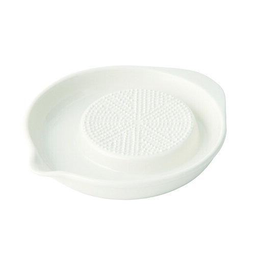 森修焼(しんしゅうやき) 白 縦210×横180×高さ30(mm) おろし三昧