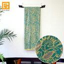 バティック 05(エメラルドグリーン) ◆ 【 アジアン雑貨 アジアン 布 壁掛け アジア布……