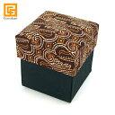 バリ雑貨ココバリ(アジアン雑貨)で買える「BOX SET(Batik brownLLサイズ用※オーガンジー付き(単品での購入不可・ガムランボールと一緒にご購入下さい)【バリ雑貨 バリ島 アジアン雑貨 銀細工 アクセサリー インドネシア ガムランボール プレゼント ギフトボックス 贈り物 ボックスセット】※キャンペーン1円」の画像です。価格は1円になります。