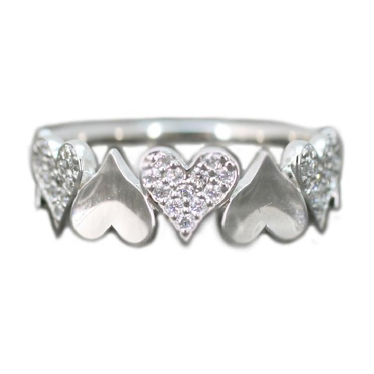 指輪 プラチナ リング ダイヤリング Pt900 プラチナ 天然 ダイヤモンド 日本製【NEWショップ】 【指輪】【プラチナ】【リング】:ココカル