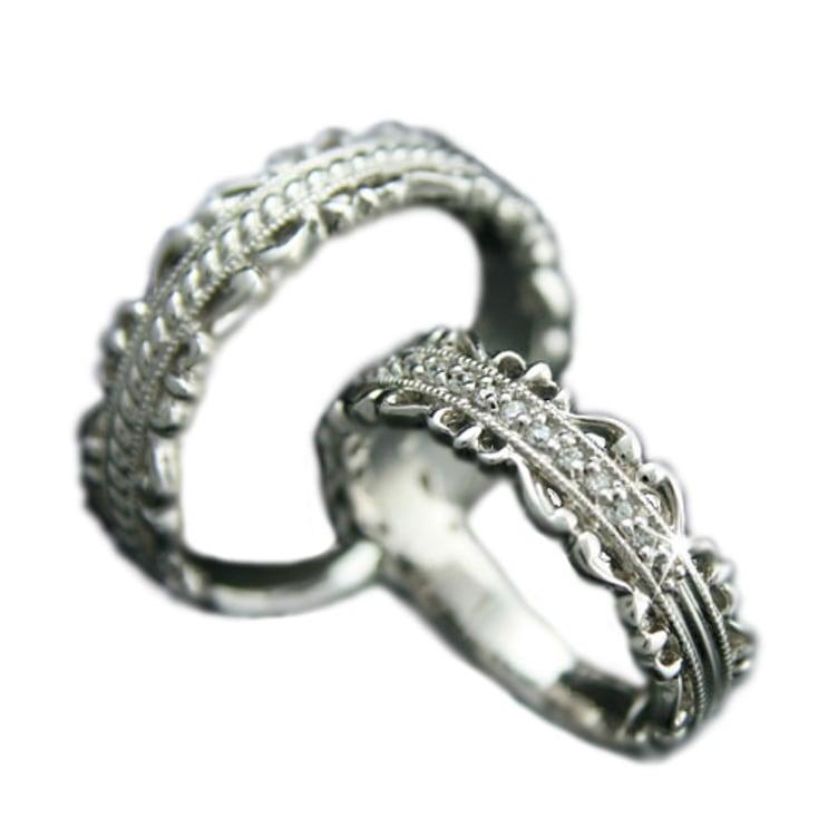 ペアリング マリッジリング 結婚指輪 プラチナ Pt900 2本セット 天然 ダイヤモンド 日本製【NEWショップ】 】【プラチナ】【結婚指輪】【ペアリング】:ココカル