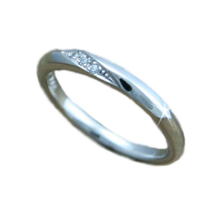 ペアリング 指輪 ホワイトゴールド リング K18 イエローゴールド ピンクゴールド 天然 ダイヤモンド リング 日本製【NEWショップ】 【指輪】【リング】【ダイヤモンド】