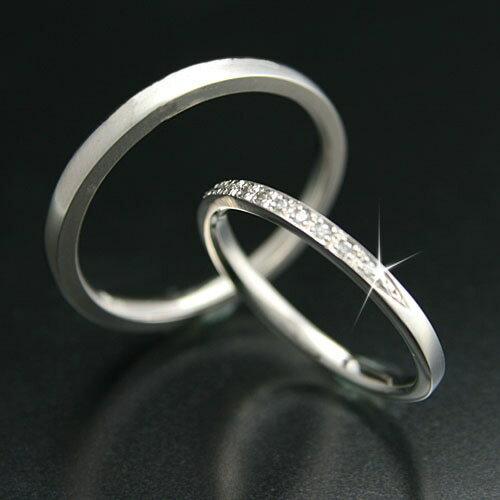 マリッジリング 2本セット K18 ホワイトゴールド 結婚指輪 天然 ダイヤモンド 日本製【NEWショップ】 【ペアリング】【ホワイトゴールド】:ココカル