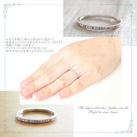 K18ゴールドリング結婚指輪ダイヤリングホワイトゴールドイエローゴールドピンクゴールド天然ダイヤモンド日本製