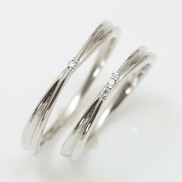 結婚指輪 マリッジリング プラチナ900 ダイヤモンド 2本セット 天然ダイヤ 品質保証書 金属アレルギー 日本製 おしゃれ ジュエリー ギフト プレゼント