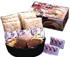 本場 沖縄そば6人前セット(三枚肉・豚骨そばだし・かまぼこ・錦糸卵・島とうがらし付き) |茹で麺 サン食品|