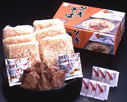本場 ソーキそば6人前セット(ソーキ肉・豚骨そばだし・島とうがらし付き) |茹で麺 年越そば サン食品|