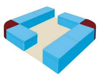 Combi ジョイントベンチシリーズ キッズコーナー レイアウト例 ミニマムサイズ3 2.3m×2.3m [4.6m2] コンビウィズ株式会社 [メーカー直送][代引不可]