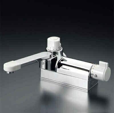 KVK デッキ形定量止水付サーモスタット式混合栓 お湯ぴた サーモスタット混合栓【KM298G】[新品]【RCP】:換気扇の激安ショップ プロペラ君