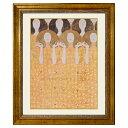 クリムト 「歓喜の歌」 複製画 キャンバスにジクレー 額付き 絵画 壁画「ベートーヴェン・フリーズ」の一部 ウィーン分離派 セセッション館(オーストリア)所蔵・・・