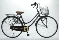 マイパラスタウンサイクル26・ベーシックM-513BRブラウン26インチスチールフレーム自転車【送料無料】