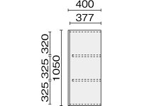 プラス/LX-5ガラス3枚引き戸D400上置き