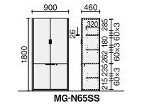 コクヨ/N650両開き書棚(木扉)ミディアム/MG-N65SSW03