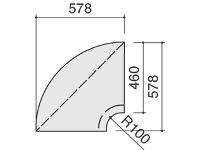 コクヨ/コーナータイプ内90°木目/COLE1P81