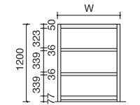 コクヨ/ノンボルトシェルビングE棚板4枚/SE-A4324E-F1-N