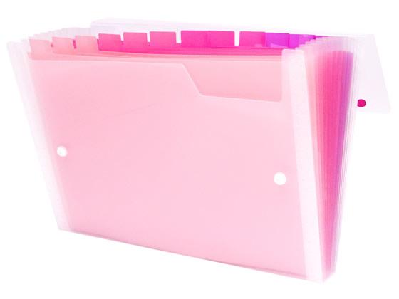 ビュートン/Gra-De ドキュメントファイル A4 13ポケット ピンク【ココデカウ】