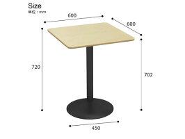 Y2K/カフェテーブル直径60cm角型ナチュラル/CTRR-60S-NA