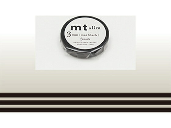 カモ井/mt slim 3mm マットブラック/MTSLIMS11