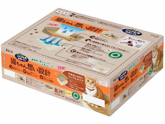 KAO/ニャンとも清潔トイレ成猫用スタートセット アイボリー&グリーン