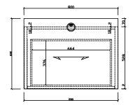 アール・エフ・ヤマカワSH/木製デスク60幅800引出付(1個)Dブラウン