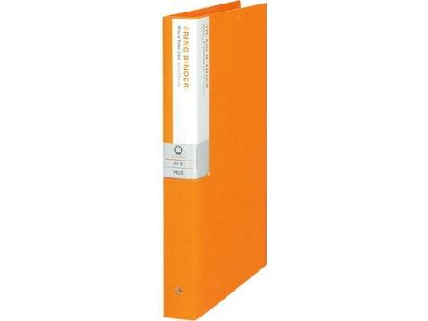 プラス/デジャヴカラーズ 4リングバインダーA4 ネーブルオレンジ