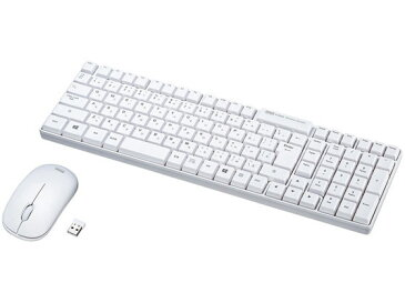 サンワサプライ/マウス付きワイヤレスキーボード ホワイト /SKB-WL34SETW