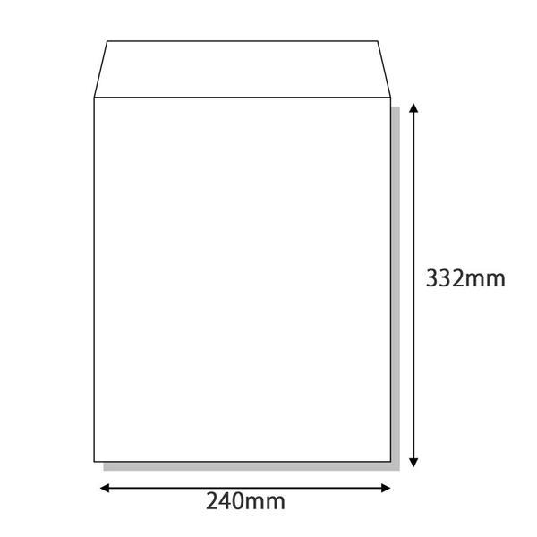 角2封筒【A4判】>白封筒>紙厚80g(やや薄手)