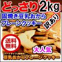 超お得 固焼き 豆乳 おからクッキー 2Kg 1セット当1575x2セット 200枚 送料無料 1個当たり42kal【あす楽_年中無休】【あす楽_土曜営業】【あす楽_日曜営業】