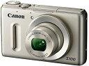 【中古】Canon デジタルカメラ PowerShot S100 シルバー PSS100(SL) 1210万画素 広角24mm 光学5倍ズーム 3.0型TFT液晶カラーモニター