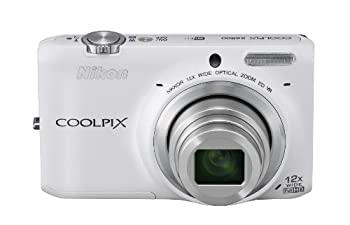 【中古】Nikon デジタルカメラ COOLPIX S6500 光学12倍ズーム Wi-Fi対応 ナチュラルホワイト S6500WH