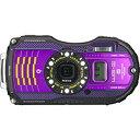 【中古】PENTAX 防水デジタルカメラ PENTAX WG-3GPS パープル 1cmマクロ マクロスタンド付属 電子コンパス サブLCD Qi規格 PENTAX WG-3GPSPU 12674