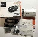 【中古】ソニー SONY ビデオカメラ Handycam CX535 内蔵メモリ32GB ホワイト HDR-CX535/W