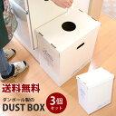 【送料無料】ダンボールのダストボックス 3個セットダンボールで作るゴミ箱!収納ボックスとしても利用出来ます 収納ボックス 収納用品 収納グッズ 収納BOX 収納ボックス 収納ボックス ゴミ箱 【送料無料・送料込】【05P05Sep15】