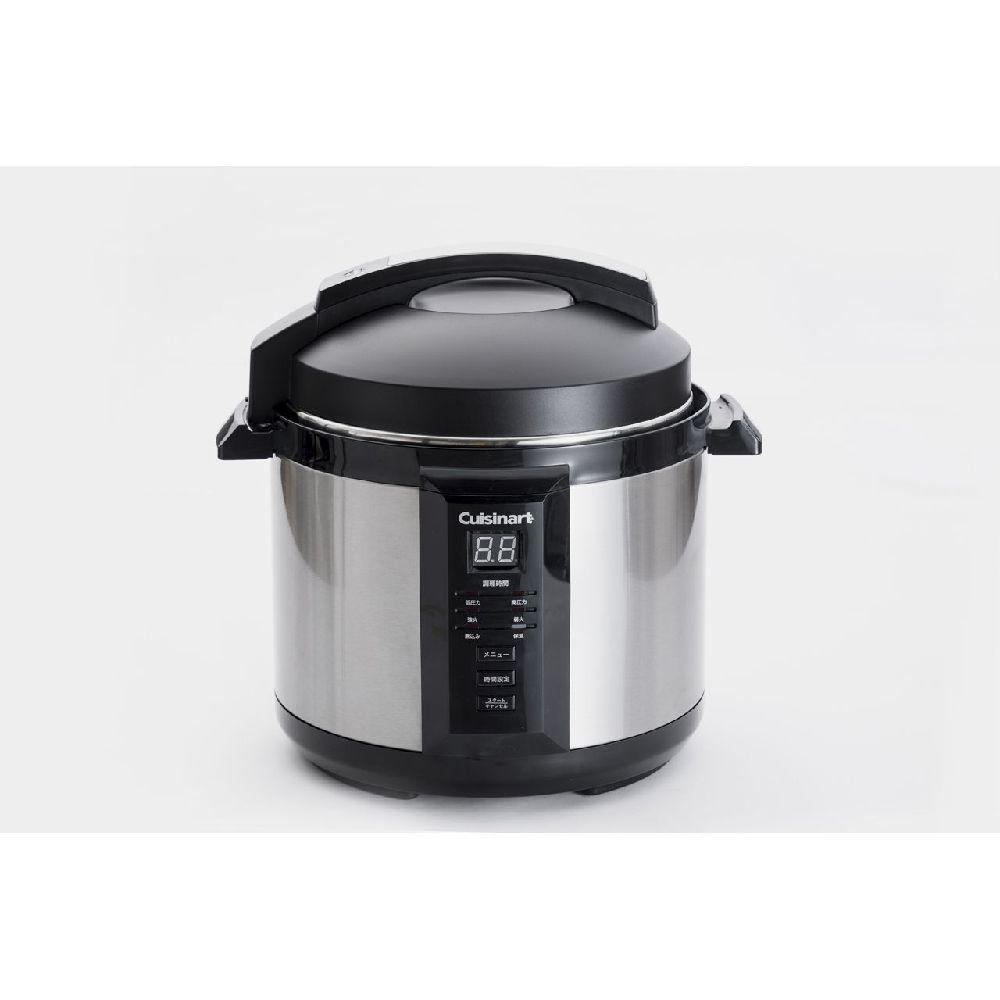 電気圧力鍋簡単自動2.6LブラッククイジナートCPC400KJ|圧力鍋電気鍋圧力なべ自動調理時短炊飯器5合3合2L保温cuisinart