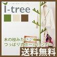 SEKISUI(セキスイ) つっぱり棒式ポールハンガー(i-Tree) TPH2【送料無料 送料込 コートハンガー コート掛け コートかけ 帽子掛け もの掛け 北欧 壁掛け スリム おしゃれ 収納 積水樹脂】